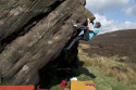 Alan James on Crack and Arete (V3 6A+) at Newstones.