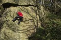 Paul Phillips on Cool Running Left-hand (V4 6B) on Rivelin Edge.