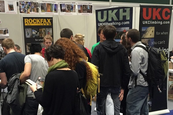 Happy Rockfax bargain hunters at the Outdoor Show in London, February 2015