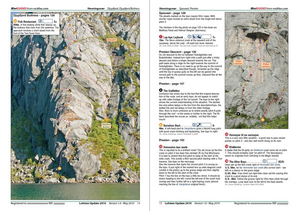 Lofoten Update 2010 example page